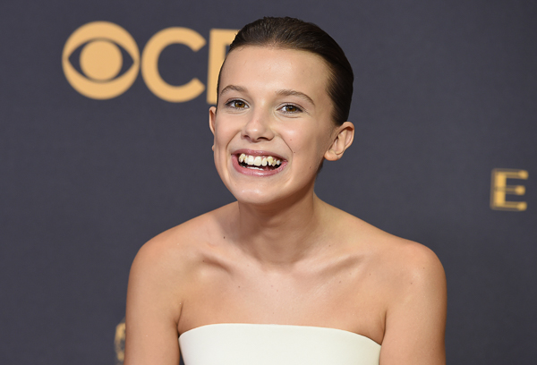 "<div class=""meta image-caption""><div class=""origin-logo origin-image kgo""><span>kgo</span></div><span class=""caption-text"">Millie Bobby Brown arrives at the 69th Primetime Emmy Awards. (Jordan Strauss/Invision/AP)</span></div>"
