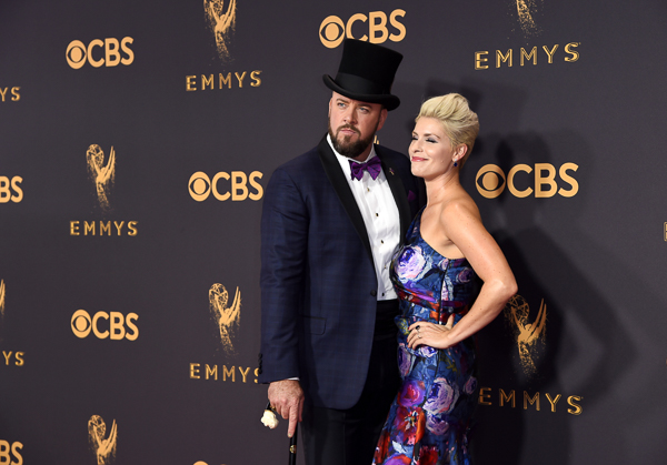 "<div class=""meta image-caption""><div class=""origin-logo origin-image kgo""><span>kgo</span></div><span class=""caption-text"">Chris Sullivan, left, and Rachel Reichard arrive at the 69th Primetime Emmy Awards (Richard Shotwell/Invision/AP)</span></div>"