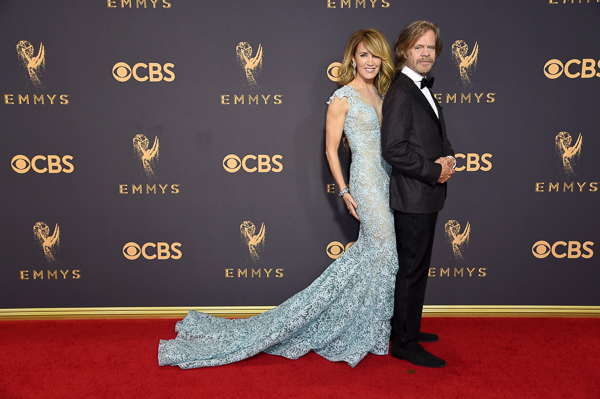 "<div class=""meta image-caption""><div class=""origin-logo origin-image wpvi""><span>wpvi</span></div><span class=""caption-text"">Felicity Huffman, left, and William H. Macy arrive at the 69th Primetime Emmy Awards. (Richard Shotwell/Invision/AP)</span></div>"