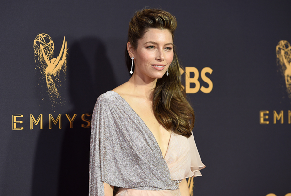 "<div class=""meta image-caption""><div class=""origin-logo origin-image kfsn""><span>kfsn</span></div><span class=""caption-text"">Jessica Biel arrives at the 69th Primetime Emmy Awards (Richard Shotwell/Invision/AP)</span></div>"