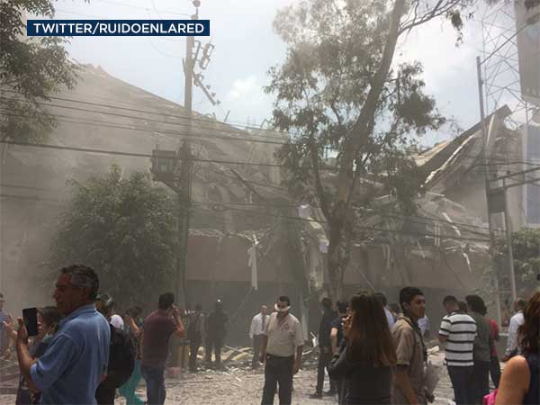 "<div class=""meta image-caption""><div class=""origin-logo origin-image none""><span>none</span></div><span class=""caption-text"">Damage is seen in the aftermath of a powerful earthquake to hit Mexico on Tuesday, Sept. 19, 2017. (Twitter/RuidoEnLaRed)</span></div>"