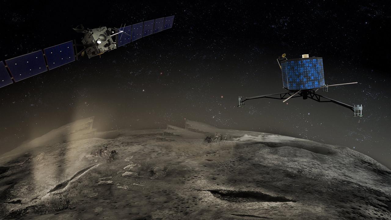 european space agency's rosetta spacecraft - 1280×720