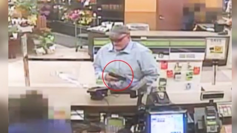 Suspect in 2 Kroger robberies sought