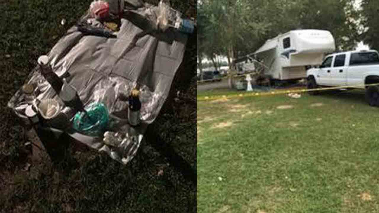 White Lake police arrested two people for allegedly making meth in a travel trailer