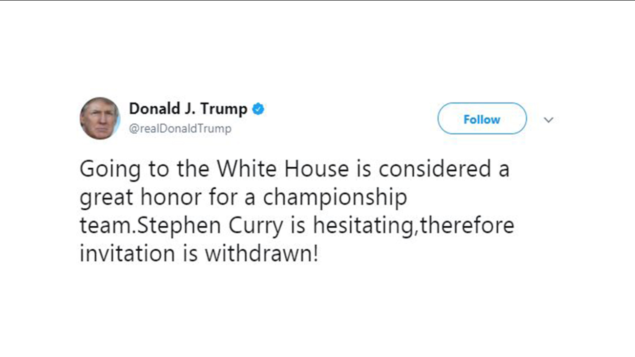 c28141bf Warriors, NBA, and NFL players respond to Trump | abc11.com