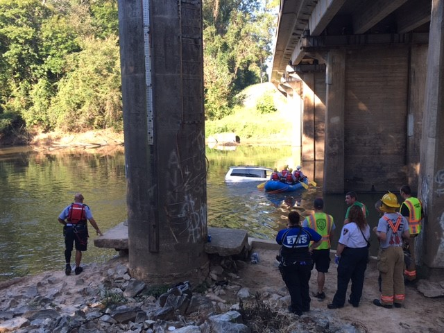 """<div class=""""meta image-caption""""><div class=""""origin-logo origin-image wtvd""""><span>WTVD</span></div><span class=""""caption-text"""">Authorities responded to a call about a van in the Neuse River at NC 42 east of Clayton. (Jason Thompson)</span></div>"""