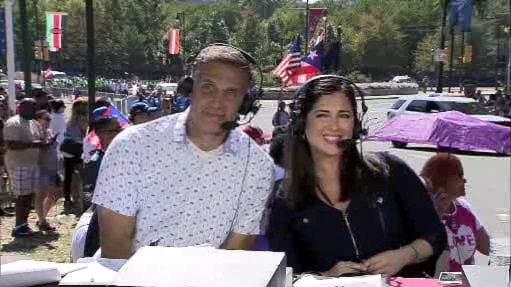 <div class='meta'><div class='origin-logo' data-origin='WPVI'></div><span class='caption-text' data-credit=''>Action News anchor Walter Perez and Univision's Ilia Garcia strike a pose during the 2017 Puerto Rican Day Parade.</span></div>