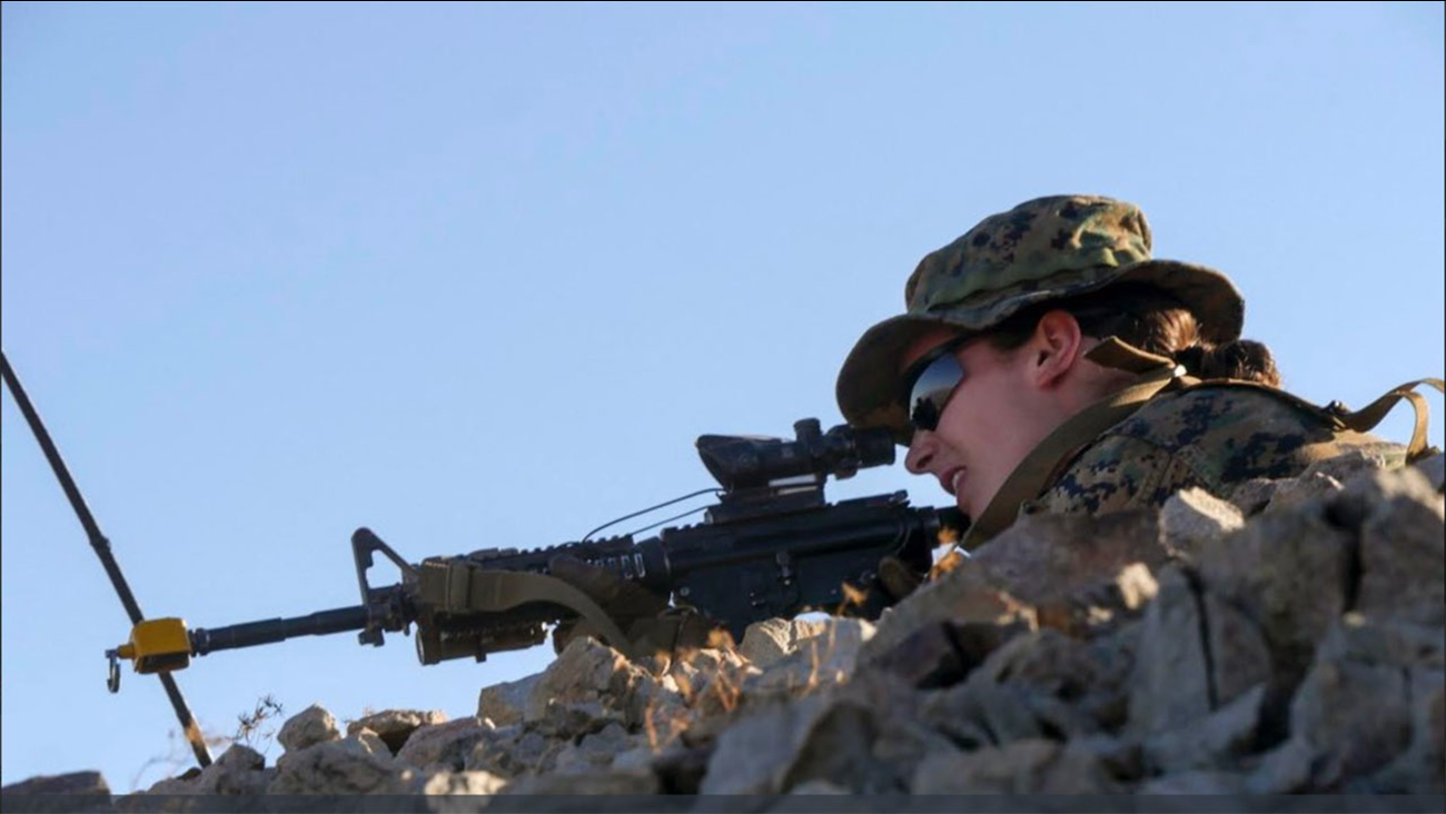 A female Marine officer completed the Infantry Officer Course, becoming the first woman to do so.