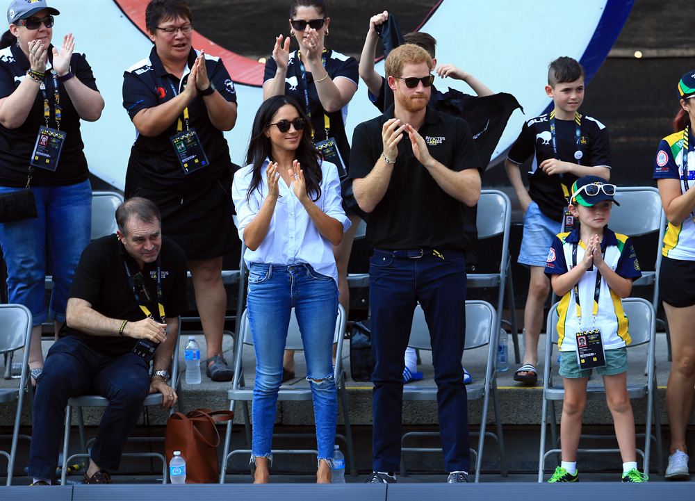 "<div class=""meta image-caption""><div class=""origin-logo origin-image none""><span>none</span></div><span class=""caption-text"">Prince Harry (R) and Meghan Markle (L) attend a Wheelchair Tennis match during the Invictus Games 2017 at Nathan Philips Square on September 25, 2017 in Toronto, Canada. (Vaughn Ridley/Getty Images for the Invictus Games Foundation)</span></div>"