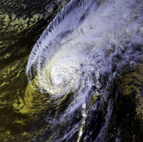 """<div class=""""meta image-caption""""><div class=""""origin-logo origin-image """"><span></span></div><span class=""""caption-text"""">Satellite imagery of Hurricane Iwa in 1982. The storm created to $250 million dollars in damage. (Wikipedia Commons)</span></div>"""