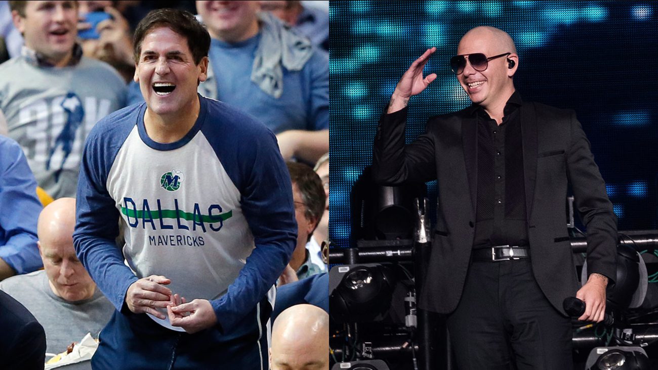 Mark Cuban and Pitbull