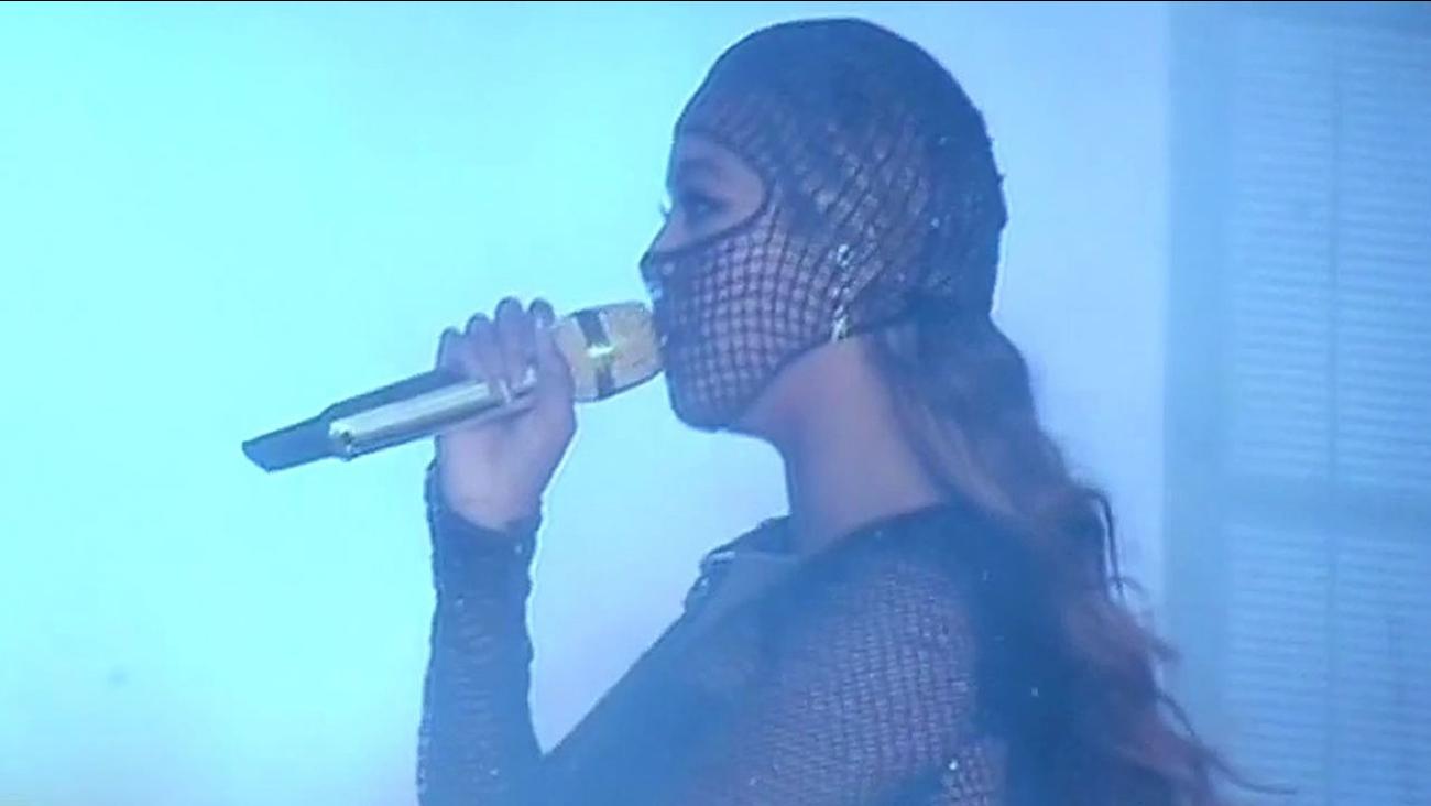 Beyonce singing at AT&T Park in San Francisco
