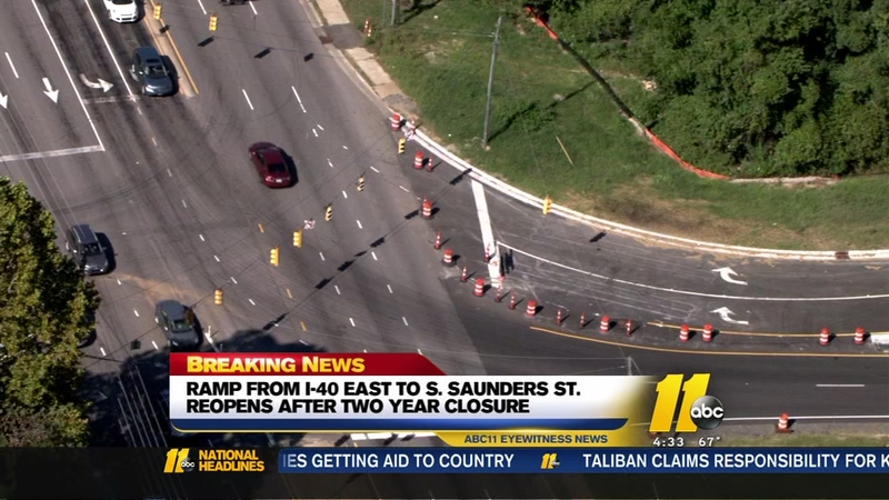 Ramp from I-40 reopens after 2-year closure