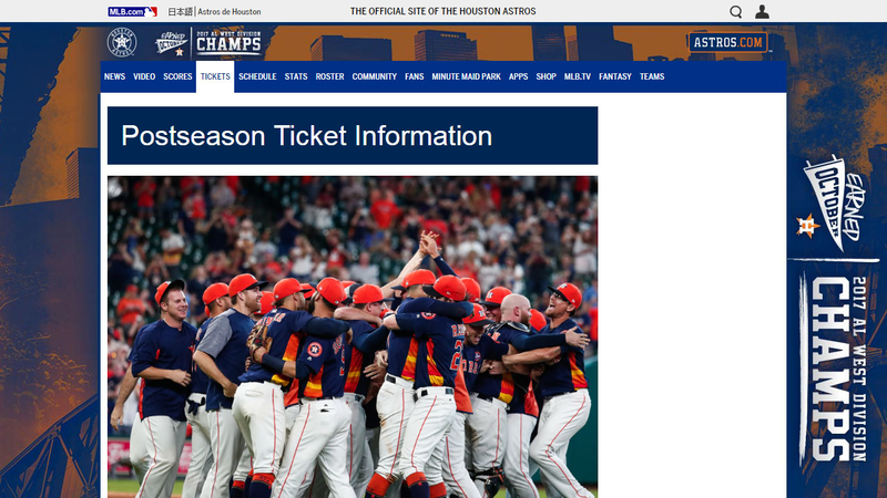 Limited amount of Astros ALDS tickets on sale today
