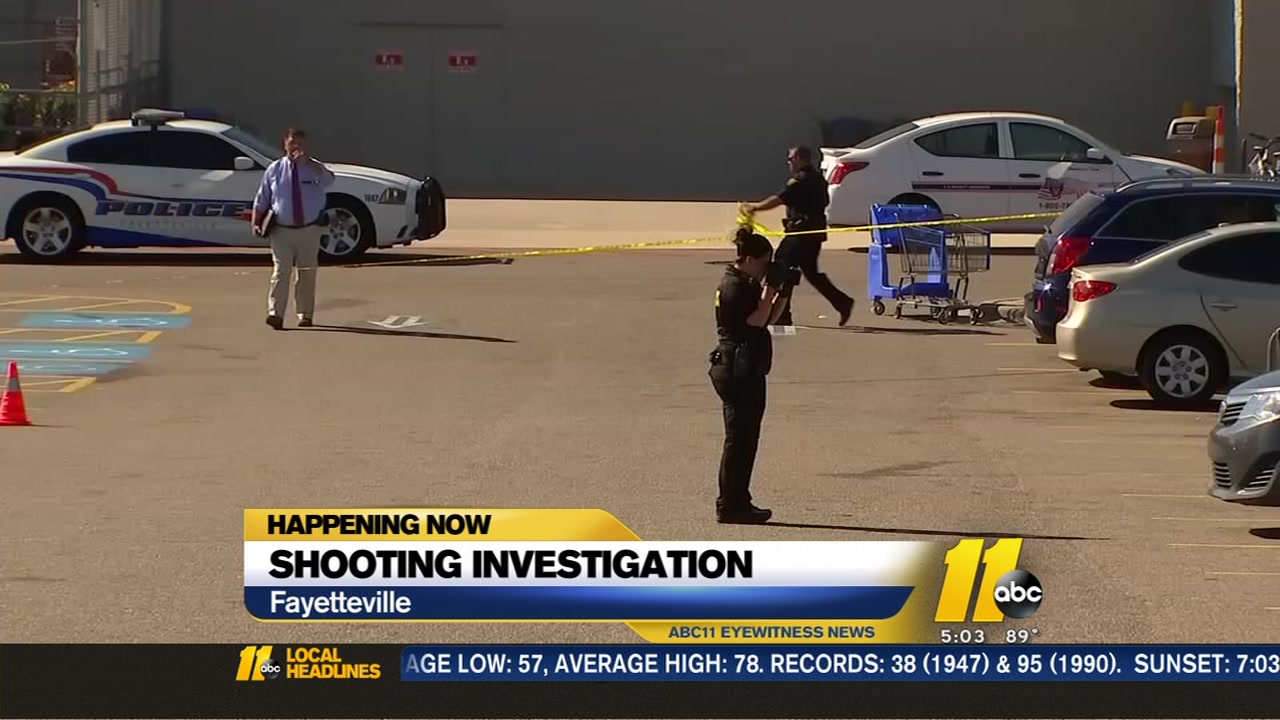 police man shot in parking lot of fayetteville walmart abc11com