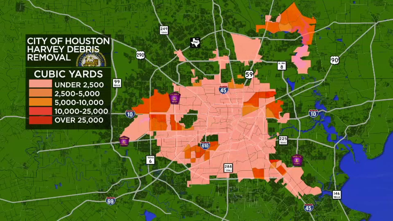 First Look At Maps Of The Debris Removal Progress In Houston Abc13 Com