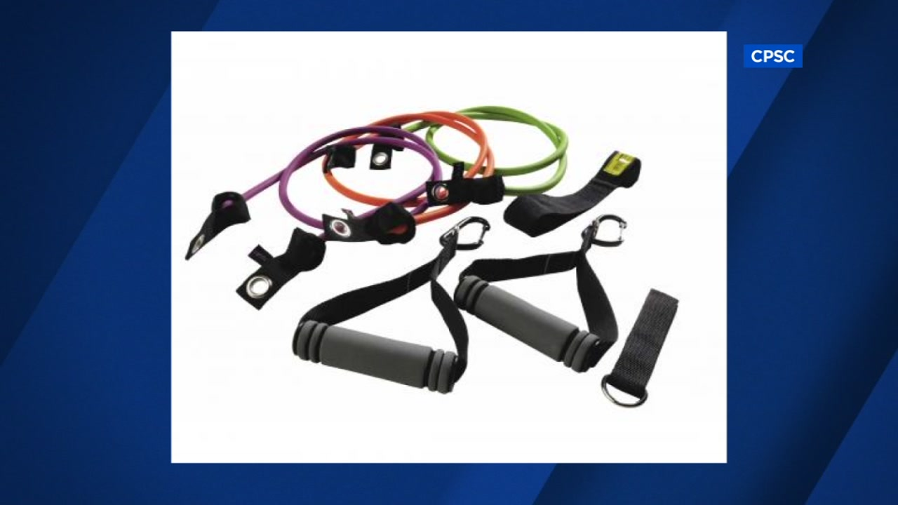 FILE -- Fitness Gear resistance bands under recall