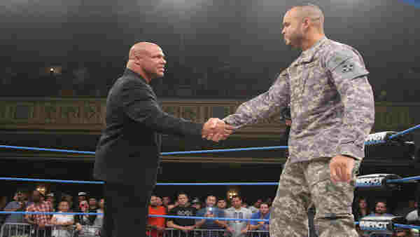 "<div class=""meta image-caption""><div class=""origin-logo origin-image ""><span></span></div><span class=""caption-text"">Chris Melendez, a Purple Heart recipient, lived out his dream of becoming a professional wrestler, making his debut in New York on Aug. 5. (ABC Photo/ WABC)</span></div>"
