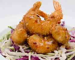 "<div class=""meta image-caption""><div class=""origin-logo origin-image none""><span>none</span></div><span class=""caption-text"">Firecracker Shrimp over Asian Slaw - Fried shrimp in a spicy Asian sauce served over Asian slaw. Served by Captain Neill's Seafood near the State Fair Ark (Credit: NC State Fair)</span></div>"