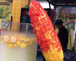 "<div class=""meta image-caption""><div class=""origin-logo origin-image none""><span>none</span></div><span class=""caption-text"">Flamin' Hot Cheetos Roasted Corn - Roasted corn on the cob coated in mayonnaise and Flamin' Hot Cheetos. Served by Douglas Farms near the waterfall (Credit: NC State Fair)</span></div>"