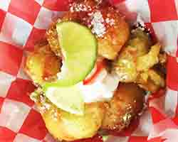 "<div class=""meta image-caption""><div class=""origin-logo origin-image none""><span>none</span></div><span class=""caption-text"">Deep Fried Key Lime Pie Bites. Served by Chef's D'Lites near the waterfall (Credit: NC State Fair)</span></div>"