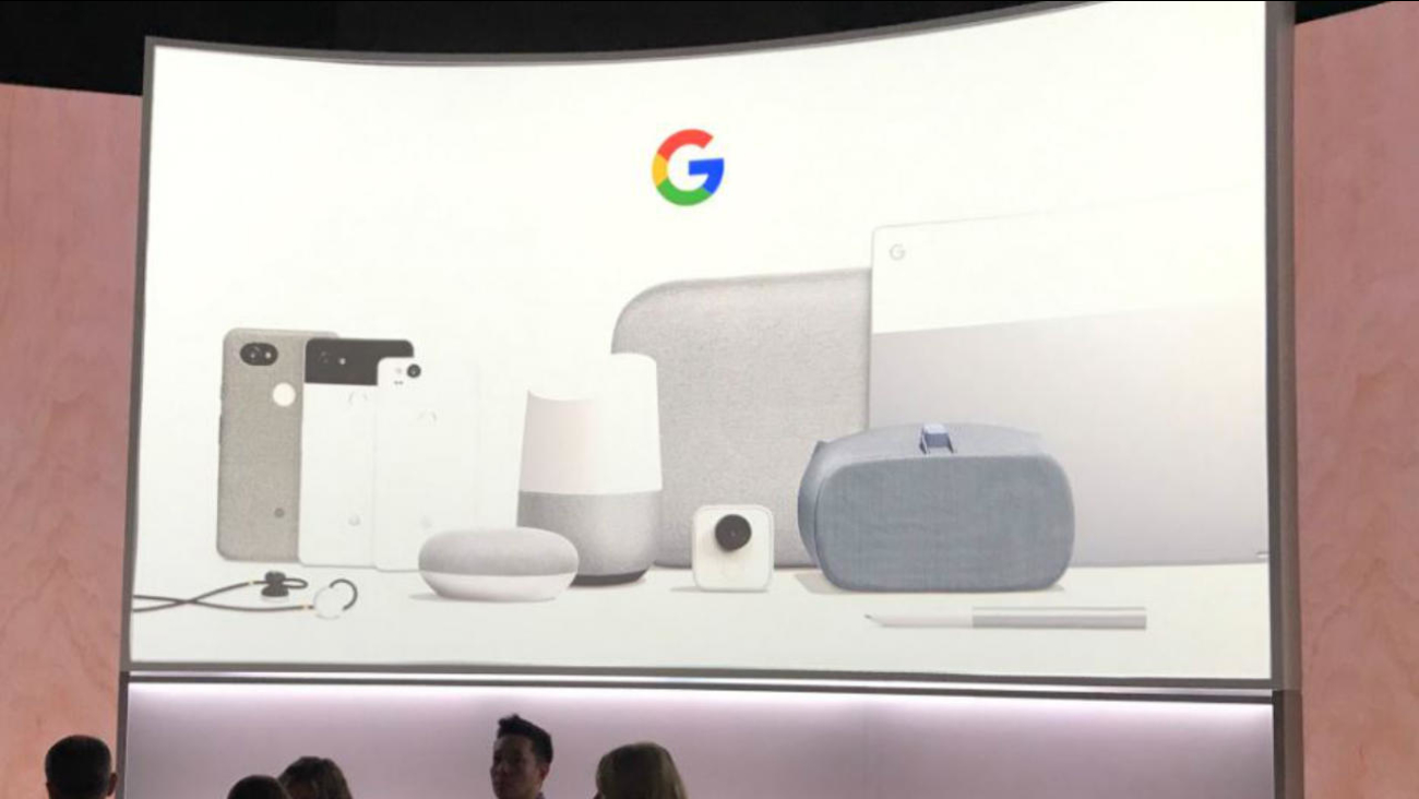 A Google event is seen in San Francisco on Wednesday, October 4, 2017.