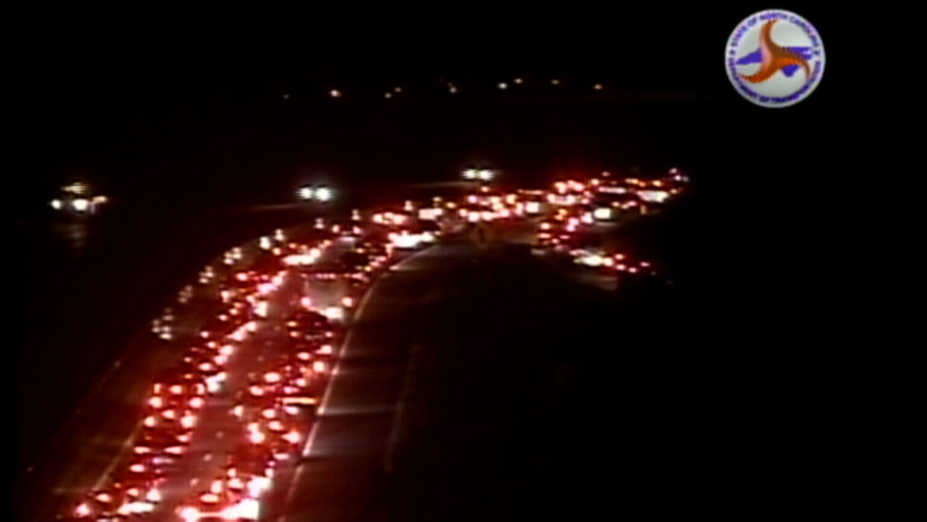 NC 147 southbound is backed up because of a crash.