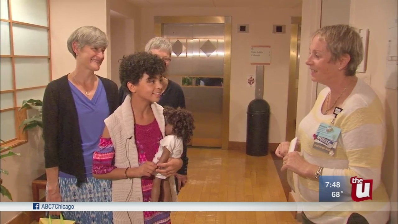 Girl returns to hospital where she was abandoned as a newborn