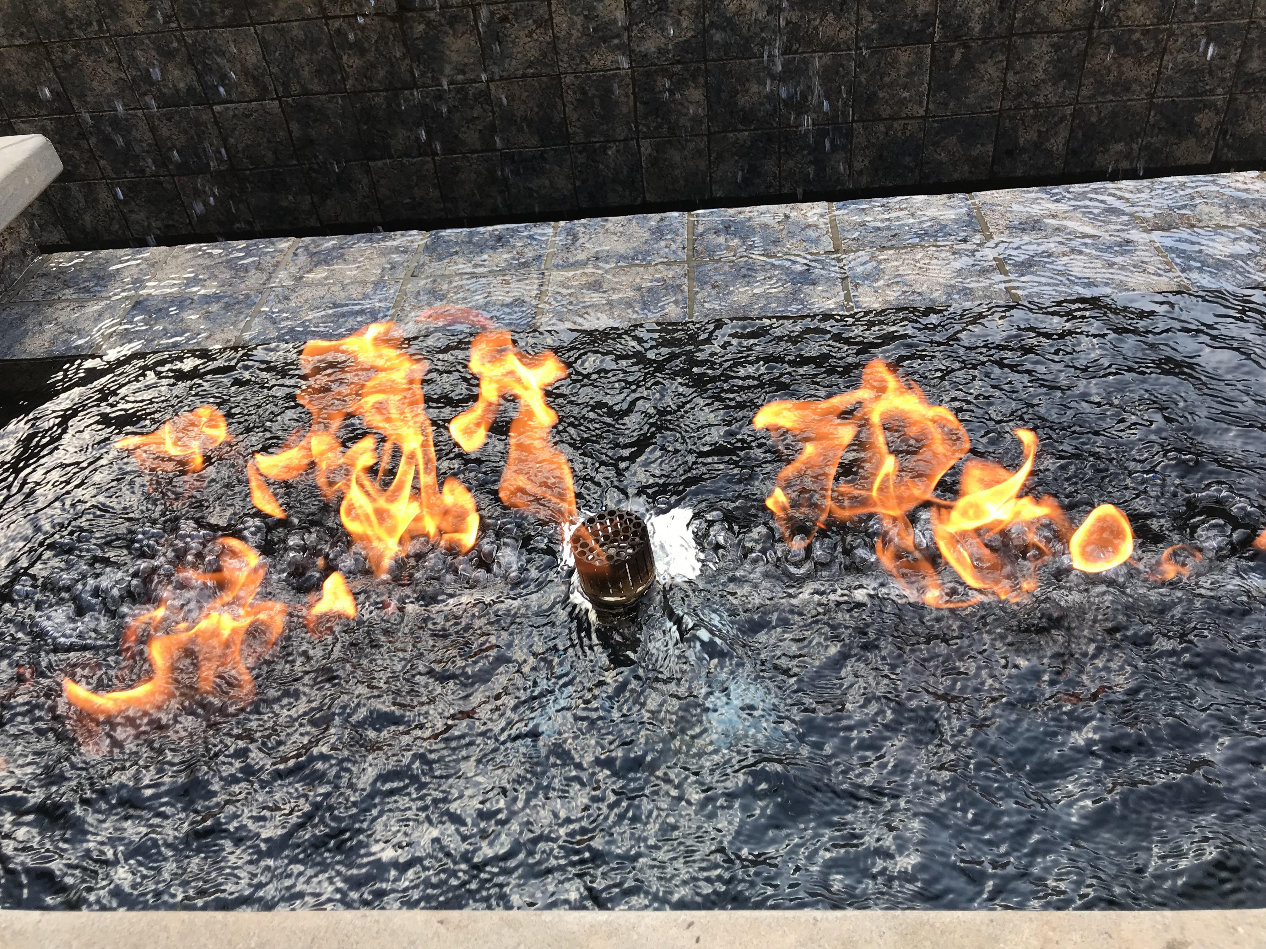 <div class='meta'><div class='origin-logo' data-origin='none'></div><span class='caption-text' data-credit='WTVD Photo/Shawn Replogle'>Fire in the pool - 5105 Avalaire Oaks Drive, Raleigh, NC - $3.2 million by Bost Custom Homes</span></div>