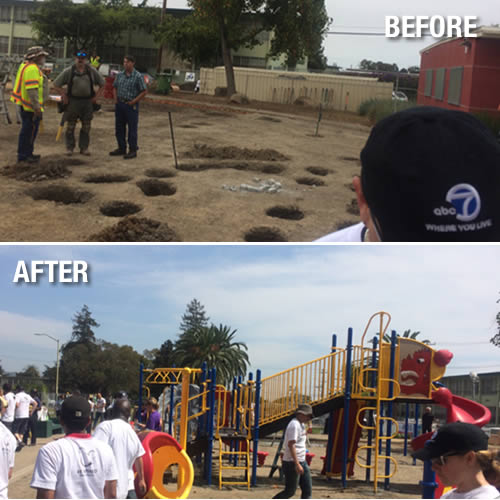 "<div class=""meta image-caption""><div class=""origin-logo origin-image ""><span></span></div><span class=""caption-text"">ABC7 and KaBOOM team up to build a dream playground in the Millsmont neighborhood in East Oakland, California, August 8, 2014. (KGO Photo)</span></div>"