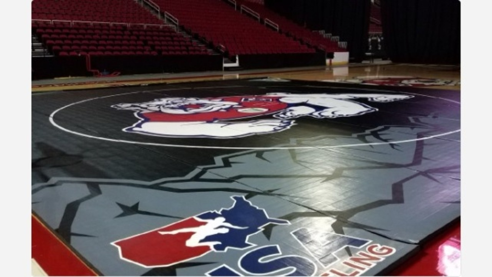 Fresno State Wrestling mat revealed for first time | abc30 com