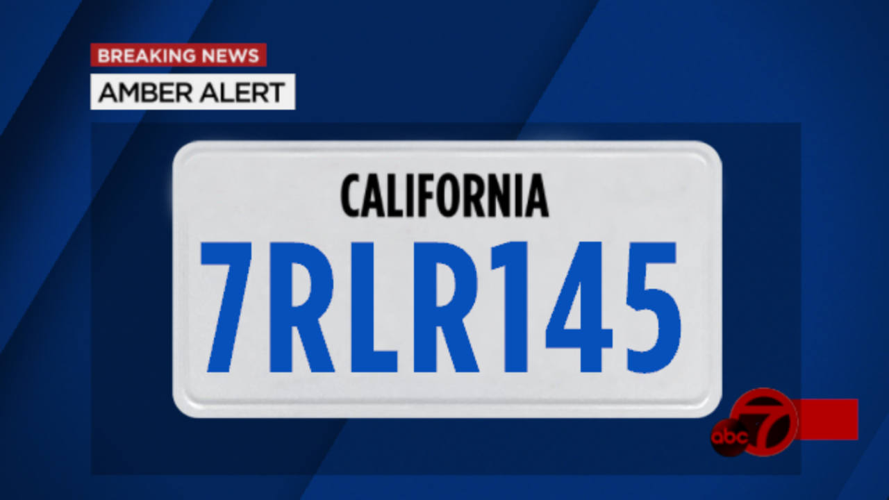 A license plate number associated with an Amber Alert is seen in this undated image.