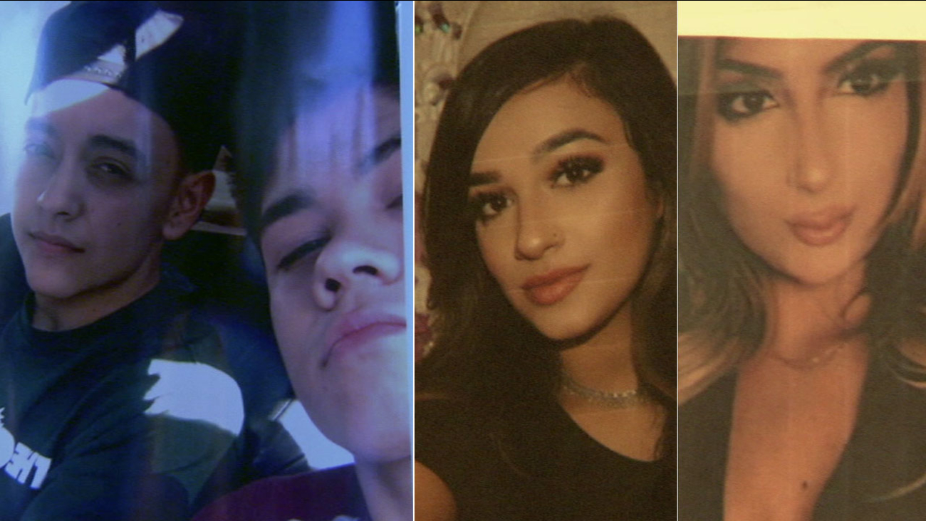 Undated photos of four young victims killed in a fiery wreck in Northridge on Friday, Oct. 6, 2017.