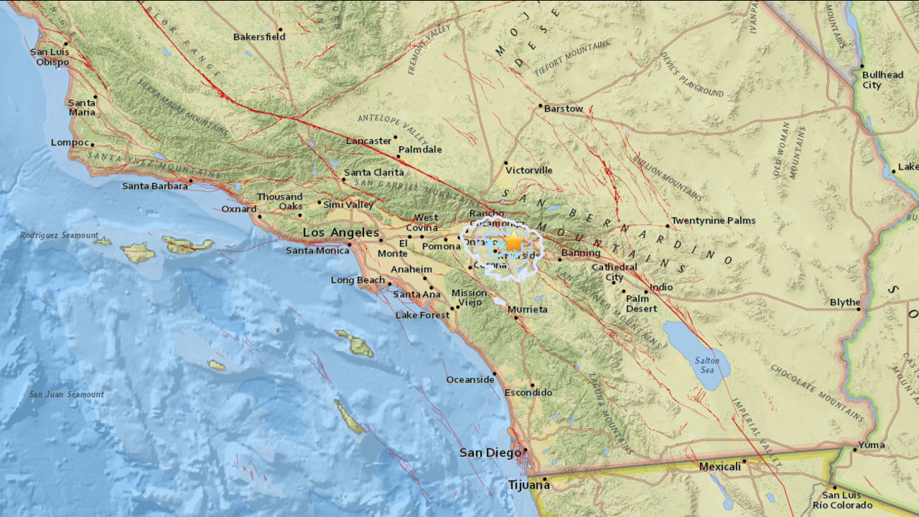 An earthquake with a preliminary magnitude of 3.1 struck near Loma Linda on Sunday, Oct. 8, 2017.