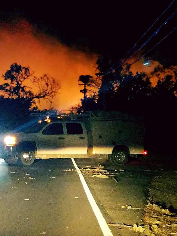<div class='meta'><div class='origin-logo' data-origin='none'></div><span class='caption-text' data-credit='Nori Yaneli/Facebook'>Multiple fires were burning in the Napa and Calistoga areas, forcing residents to evacuate overnight after the fires started on Sunday, October 8, 2017.</span></div>