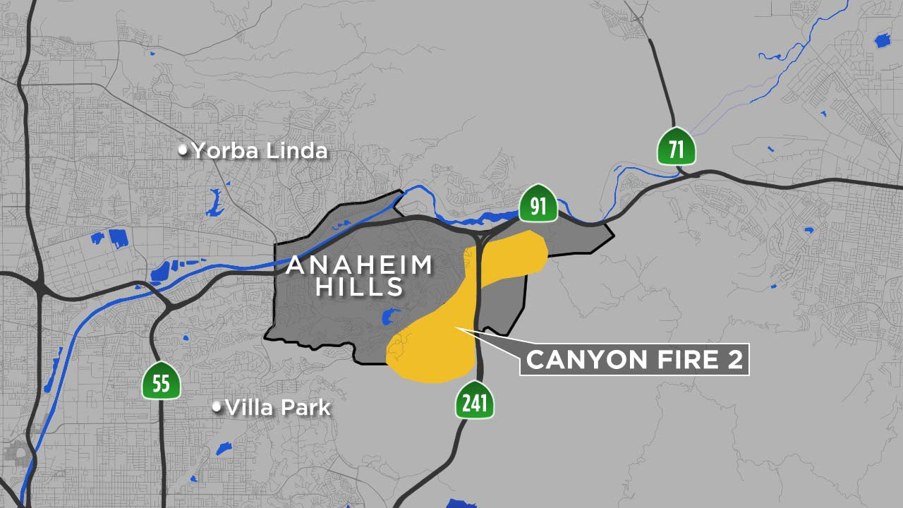 Anaheim Hills Fire Grows To 6 000 Acres Burns Multiple Homes Abc7 Com