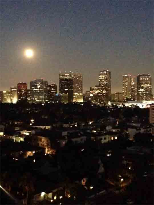 """<div class=""""meta image-caption""""><div class=""""origin-logo origin-image """"><span></span></div><span class=""""caption-text"""">ABC7 viewer Nim JS shared this picture of the 'supermoon' over Century City, Calif. on Facebook on Sunday, Aug. 10, 2014. (Nim JS)</span></div>"""