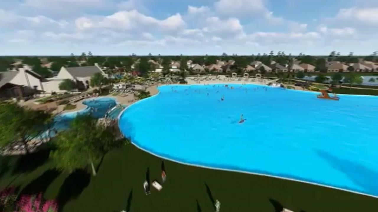 Balmoral's historic crystal lagoon finally open in Humble | abc13 com
