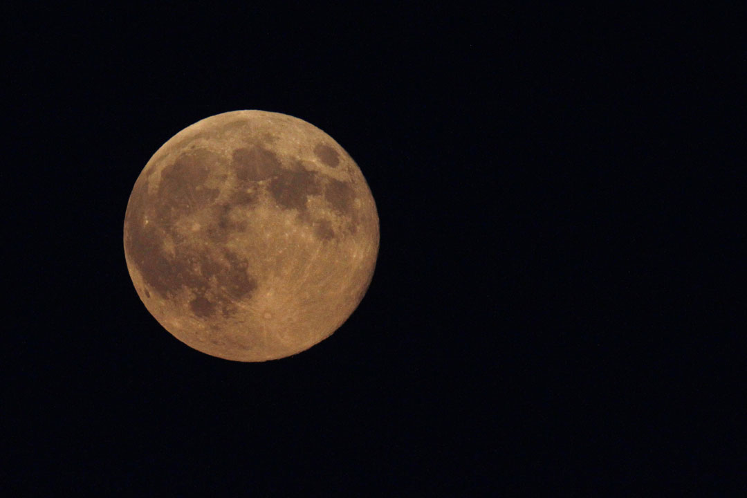 """<div class=""""meta image-caption""""><div class=""""origin-logo origin-image """"><span></span></div><span class=""""caption-text"""">The supermoon appears yellow as the sky darkens over Edgartown, Mass., Sunday, Aug. 10, 2014, on the island of Martha's Vineyard, where the Obama family is vacationing. (AP Photo/Jacquelyn Martin)</span></div>"""