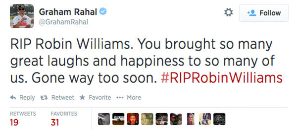 "<div class=""meta image-caption""><div class=""origin-logo origin-image ""><span></span></div><span class=""caption-text"">Social media outpours in grief over the death of actor Robin Williams. (GrahamRahal / Twitter)</span></div>"