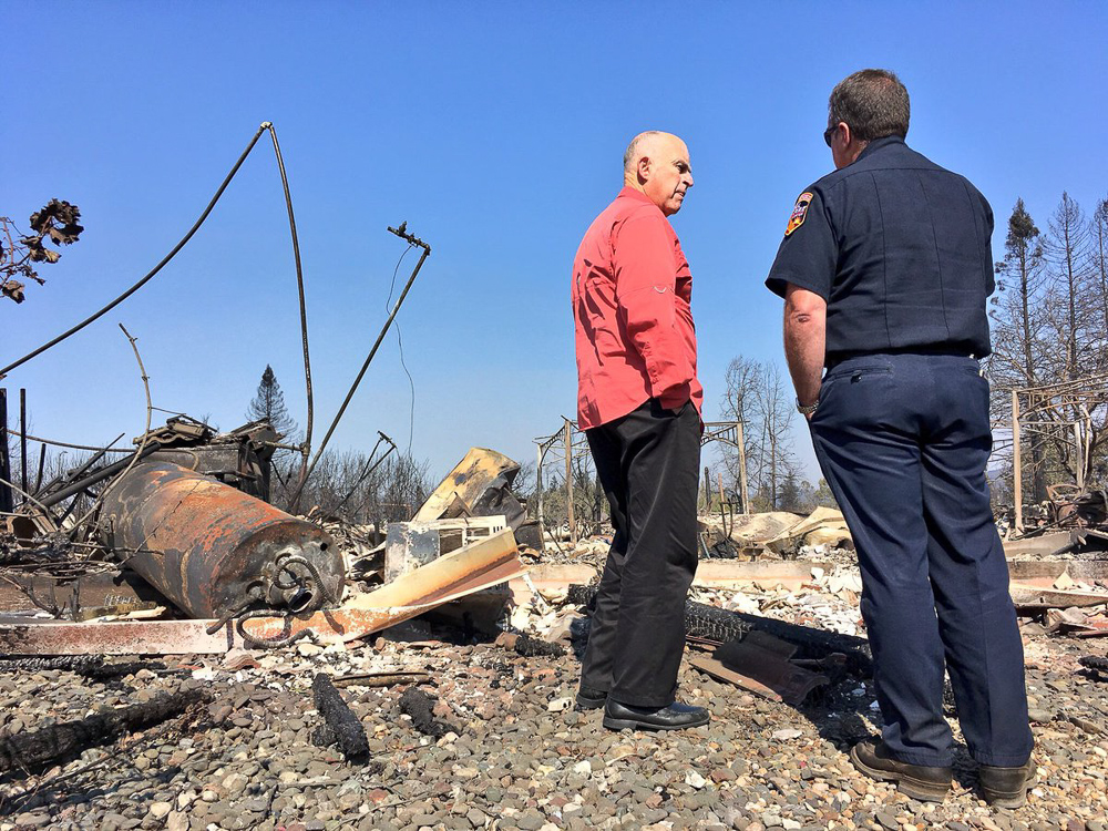 <div class='meta'><div class='origin-logo' data-origin='none'></div><span class='caption-text' data-credit='jerrybrowngov/Twitter'>California Gov. Jerry Brown visits areas affected by the North Bay wildfires on Saturday, Oct. 14.</span></div>