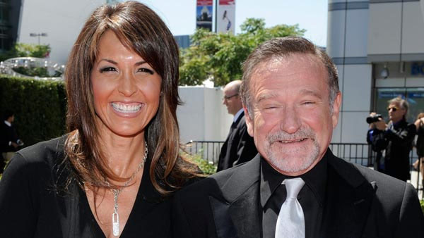 Robin Williams and his wife Susan Schneider are seen in this undated file photo.