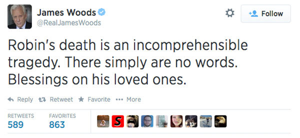 "<div class=""meta image-caption""><div class=""origin-logo origin-image ""><span></span></div><span class=""caption-text"">Actor James Woods expressed his condolences. (RealJamesWoods / Twitter)</span></div>"