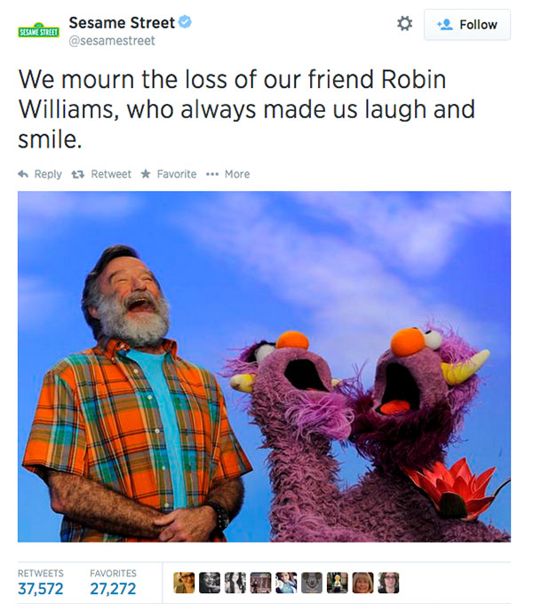 "<div class=""meta image-caption""><div class=""origin-logo origin-image ""><span></span></div><span class=""caption-text"">Friends at Sesame Street expressed their condolences. (sesamestreet / Twitter)</span></div>"