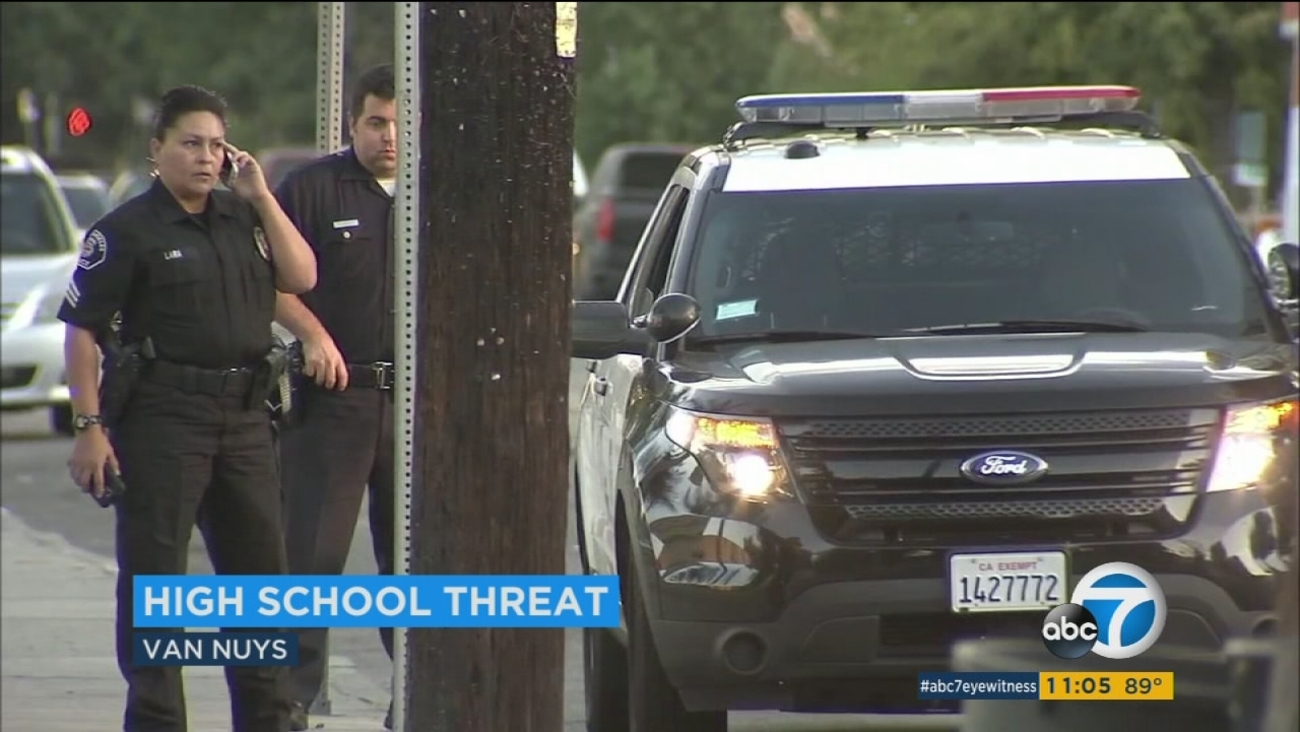 Shooting Threat Prompts Heightened Security At Van Nuys High School