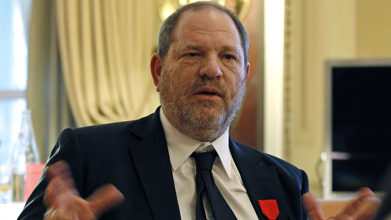 In this March 7, 2012 file photo, U.S film producer and movie studio chairman Harvey Weinstein during an interview with the Associated Press in Paris