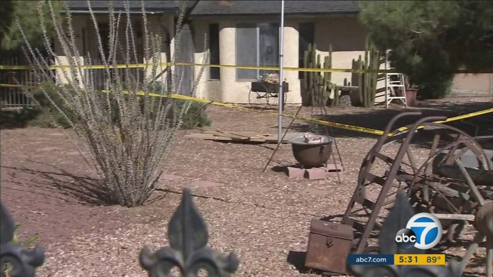 Apple Valley Man Rescued After Being Swallowed By Sinkhole Abc7 Los Angeles