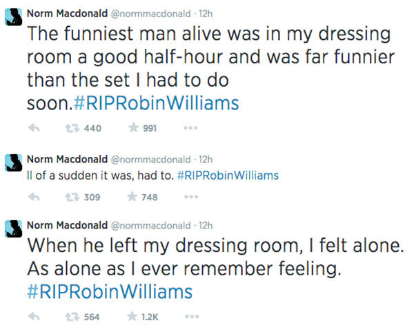 "<div class=""meta image-caption""><div class=""origin-logo origin-image ""><span></span></div><span class=""caption-text"">Norm MacDonald shares his story about Robin Williams via Twitter. Click to read the full story. (normmacdonald / Twitter)</span></div>"