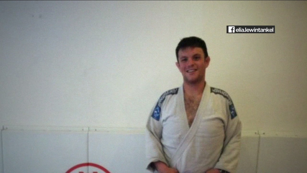 Officer Elia Lewin-Tankel poses at the Bay Ju-Jitsu dojo in San Francisco in this undated image.