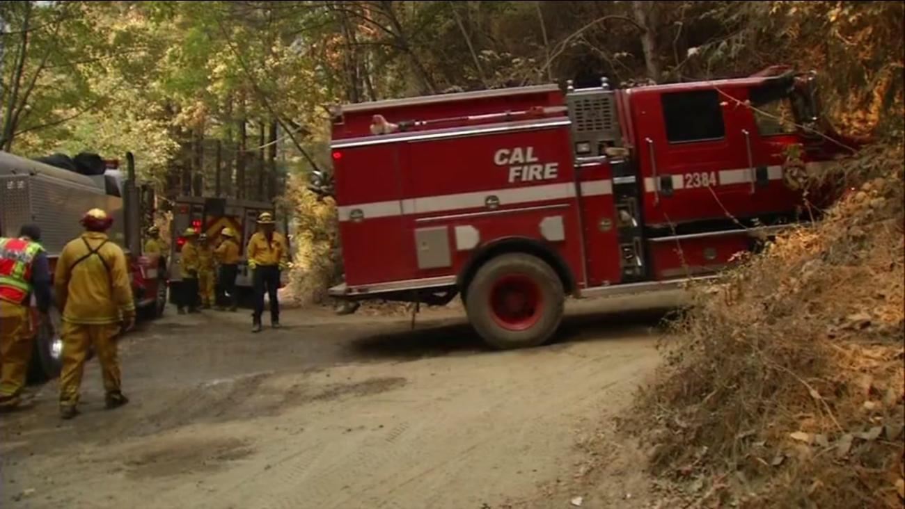 Bear Fire in Santa Cruz Mountains, Saturday, October, 22, 2017.